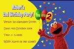 Personalised Elmo Invitations